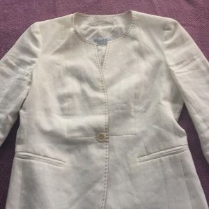 MaxMara white linen short jacket